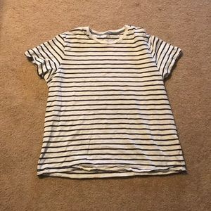 Black and White Stripped Shirt Mens